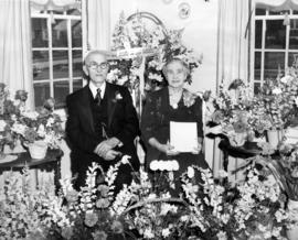 [Mr. and Mrs. Edward Mercer on their golden wedding anniversary]