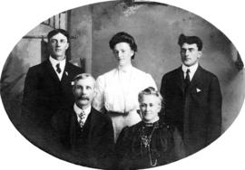 Uncle William and Aunt Mary Hamilton [with] Willie, Jennie and Fred
