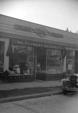 [Exterior view of a B.& K. Economy Store]