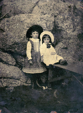 [Portrait of two young girls]