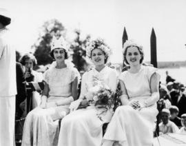 Jubilee Queens, L-R: Burnaby South, Stanley Park, and Vancouver Heights, after crowning at Englis...