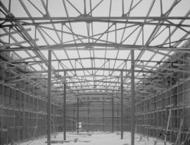 View of inside wall forms of Sugar Warehouse