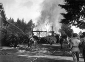 Club House fire [at Bowen Island Resort]