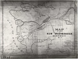 Map of part of New Westminster District B.C.