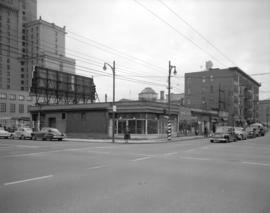 [View of the northeast corner of Robson and Burrard Street]