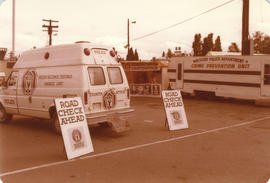 Vancouver Police Department and Counterattack vans on grounds
