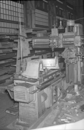 [Hydraulic openside shaper machinery at Vancouver Engineering Works]
