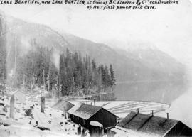 Lake Beautiful, now Lake Buntzen at time of B.C. Electric Railway Company's construction of ...