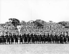 [Naval honour guard at Beacon Hill Park during visit of King George VI and Queen Elizabeth]
