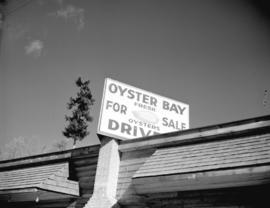 [A sign advertising oysters at] Oyster Bay