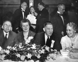[W.C. Brown and others at a Vancouver Pioneer's Association banquet]