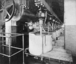 Sugar factory interior with machinery