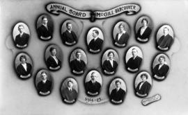 Portrait of McGill Annual Board, Vancouver, 1914-1915