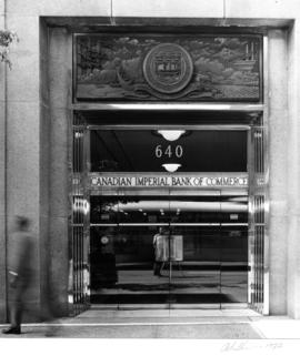 Canadian Imperial Bank of Commerce building, 640 West Hastings Street, doorway