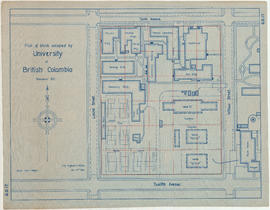 Plan of block occupied by University of British Columbia, Vancouver B.C.