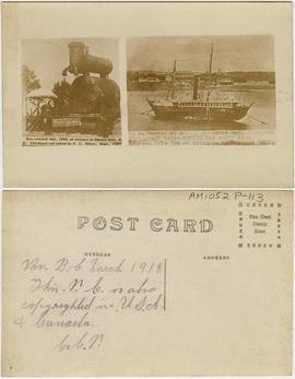 [S.S. Beaver boiler ; S.S. Beaver at anchor in James Bay, Victoria]