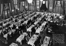 Banquet tendered by the Corporation of the City of Vancouver in honour of the Right Honourable, t...