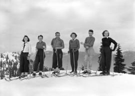 Group of skiers, Mt. Seymour, B.C.