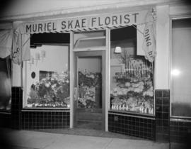 [Exterior view of Muriel Skae Florist storefront in the West End]