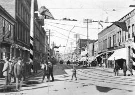 [Looking west on Cordova Street from Carrall Street]