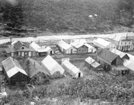 Some buildings in Atlin during the Klondike Gold Rush