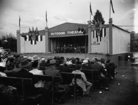 Band performing on Outdoor Theatre stage