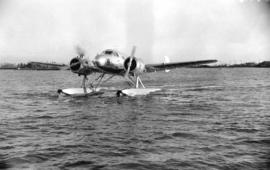 [Twin-engined Barclay-Grow seaplane on the Fraser River]