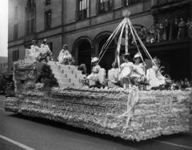 New Westminster float in 1949 P.N.E. Opening Day Parade