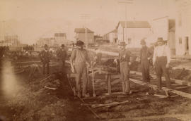 [Streetcar line construction on Westminster Avenue (Main Street)]