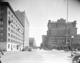 [View of Georgia Street looking east from Hornby Street]