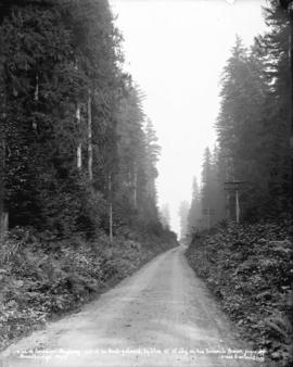A Bit of Canadian highway - part of the route followed by Thos. W. Wilby on his ocean journey acr...