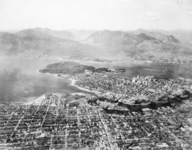 [Aerial view of] Vancouver, B.C., looking north