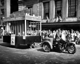 Builders' Supply Agency float for Hippo Oil in 1947 P.N.E. Opening Day Parade