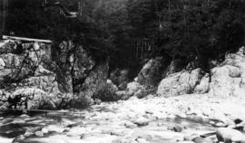 The Capilano River - remains of flume