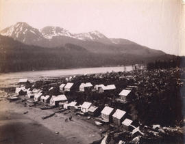 [View of First Nation's village]