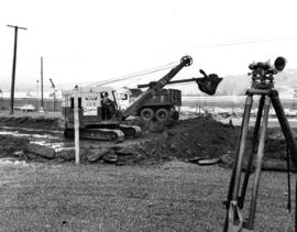 Clearing of site in preparation of construction of Pacific Coliseum