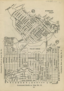 Sectional map and street directory of Vancouver : [Carrall Street to Lost Lagoon to Beach Avenue ...