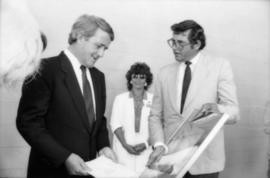 Brian Mulroney, unidentified woman and Michael Francis