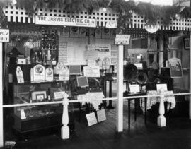 Jarvis Electric Co. display of phonograph equipment