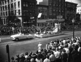 Seattle Seafair float in 1952 P.N.E. Opening Day Parade