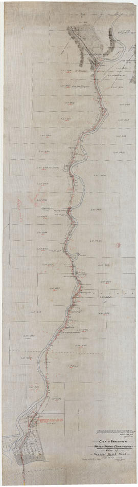 Plan of Seymour Creek Road