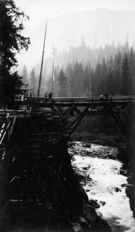 Bridge over second canyon, Capilano River