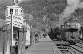 [S.S. Rosebery at dock on Slocan Lake]