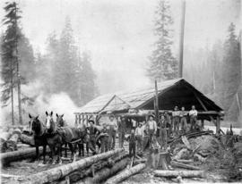 [A logging camp at Lake Coquitlam]