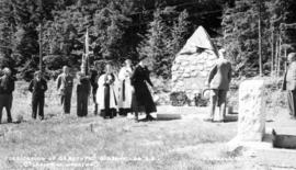 """Dedication of Cenotaph, Gibson's Landing, B.C."""