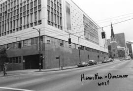 Hamilton and Dunsmuir [Streets looking] west