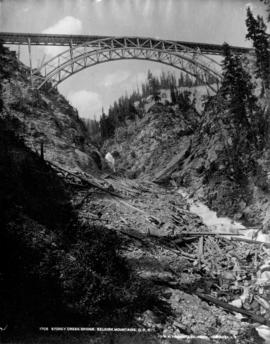 Stoney Creek Bridge, Selkirk Mountains, C.P.R. [taken from below]