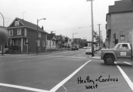 Heatley and Cordova [Streets looking] west