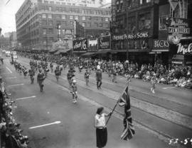 Marching band in 1953 P.N.E. Opening Day Parade