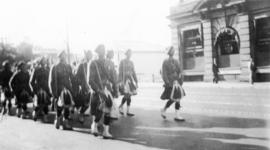 [Dominion Day parade on West Pender Street]